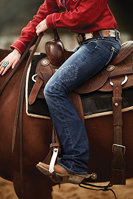 Certain jeans will work better with boots than others | Image © Ariat International