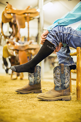 The thickness of your socks will affect the fit of your boots | Image © Noble Outfitters