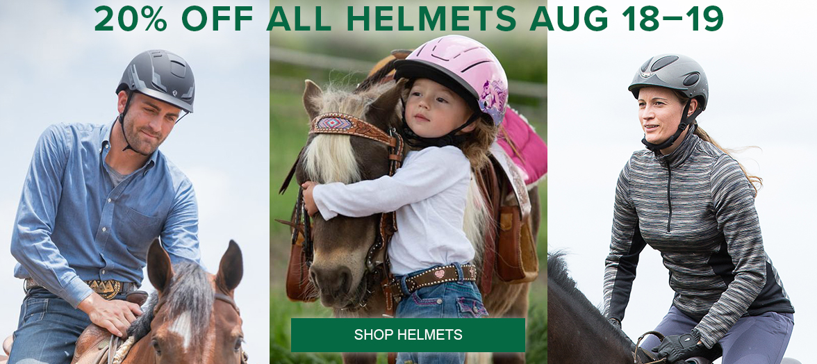 Shop Helmets for 20% Off All Helmets August 18-19