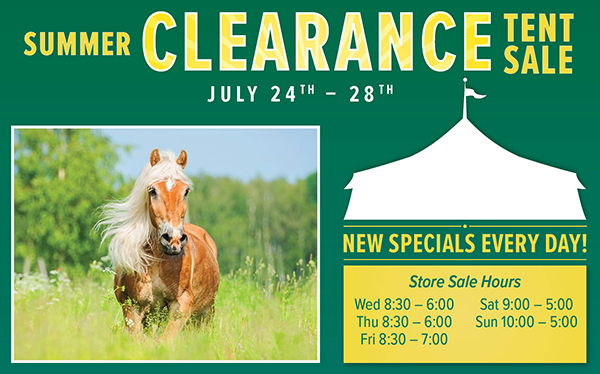 Summer Clearance Tent Sale July 24-28