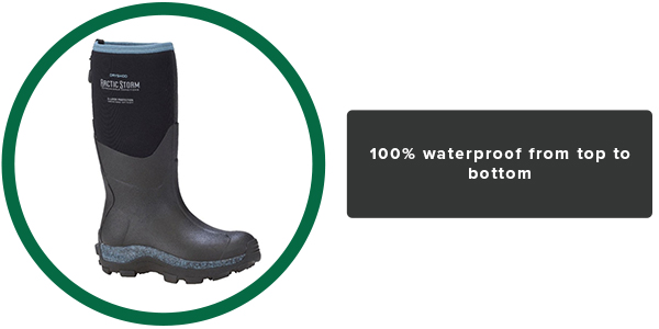 100% waterproof from top to bottom