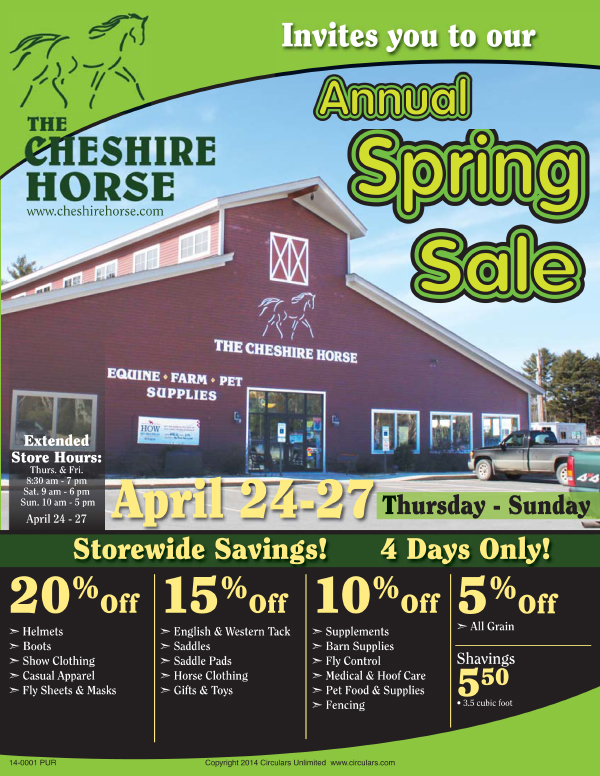 Annual Spring Sale April 24-27