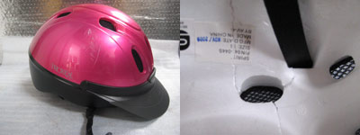 While the outside damage to this helmet that occurred during a fall appears minor, by looking at the interior foam that cushioned the blow, it is clear that it has cracked and the helmet must be replaced.