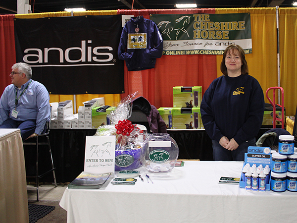 Sales Associate Jen at our booth with Andis Clippers