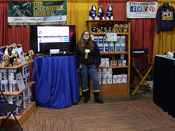 Our booth with Cosequin, and The Cheshire Horse Sales Associate Jenny