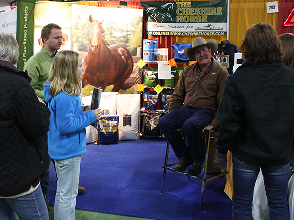 Pat Parelli did an autograph signing and talked with customers at our booth with Omega Fields