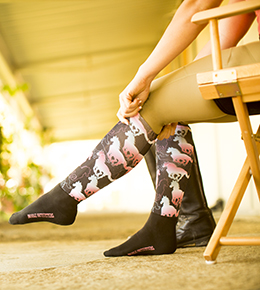 Noble Outfitters Over the Calf Peddies socks have an ultra thin calf with a lightweight, breathable panel and a padded ankle for maximum protection in boot pinch points.