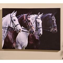 GiftCraft Horse Canvas Wall Print, $24.95