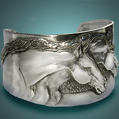 The Horse Lady Two Horse Bracelet, $32.99