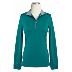 EIS Cool Weather Long Sleeve Thermal in Teal & Silver - $88.00